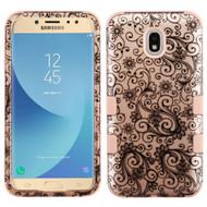 Military Grade Certified TUFF Hybrid Armor Case for Samsung Galaxy J7 (2018) - Leaf Rose Gold
