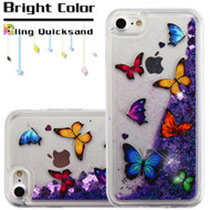 Quicksand Glitter Transparent Case for iPhone 8 / 7 - Butterfly Dancing