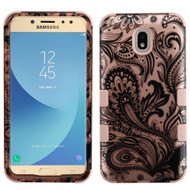 Military Grade Certified TUFF Hybrid Armor Case for Samsung Galaxy J7 (2018) - Phoenix Flower Rose Gold
