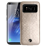 Smart Power Bank Battery Charger Case 7000mAh for Samsung Galaxy S8 - Gold