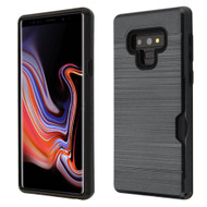 ID Card Slot Hybrid Case for Samsung Galaxy Note 9 - Black