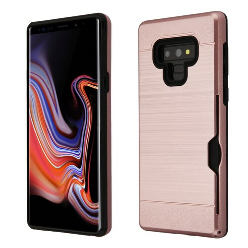 ID Card Slot Hybrid Case for Samsung Galaxy Note 9 - Rose Gold