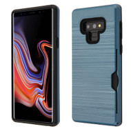 ID Card Slot Hybrid Case for Samsung Galaxy Note 9 - Ink Blue
