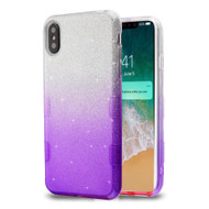 Tuff Full Glitter Hybrid Protective Case for iPhone XS Max - Gradient Purple