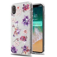 Tuff Full Glitter Diamond Hybrid Protective Case for iPhone XS Max - Purple Stargazers