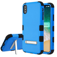 Military Grade Certified TUFF Hybrid Armor Case with Stand for iPhone XS Max - Blue