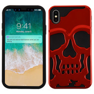 Military Grade Certified Skullcap Hybrid Case for iPhone XS Max - Red