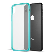 Polymer Transparent Hybrid Case for iPhone XS Max - Teal Green