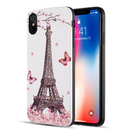 Art Pop Series 3D Embossed Printing Hybrid Case for iPhone XS Max - Eiffel Tower