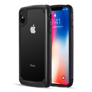 Tough Shield Snap-on Transparent Case for iPhone XS Max - Black