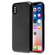 Carbon Fiber Hybrid Case for iPhone XS / X - Black