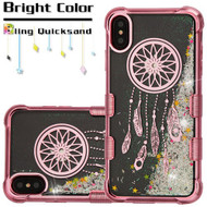 Tuff Lite Quicksand Electroplating Case for iPhone XS Max - Dreamcatcher Rose Gold