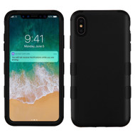 Military Grade Certified TUFF Hybrid Armor Case for iPhone XS Max - Black