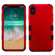 Military Grade Certified TUFF Hybrid Armor Case for iPhone XS Max - Red
