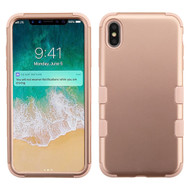 Military Grade Certified TUFF Hybrid Armor Case for iPhone XS Max - Rose Gold
