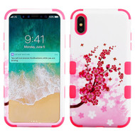 Military Grade Certified TUFF Hybrid Armor Case for iPhone XS Max - Spring Flowers