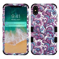 Military Grade Certified TUFF Hybrid Armor Case for iPhone XS Max - Persian Paisley