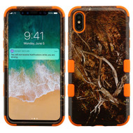 Military Grade Certified TUFF Hybrid Armor Case for iPhone XS Max - Tree Camouflage Orange