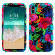 Military Grade Certified TUFF Hybrid Armor Case for iPhone XS Max - Electric Hibiscus