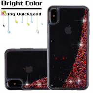Quicksand Glitter Transparent Case for iPhone XS Max - Rose Gold