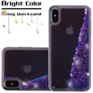 Quicksand Glitter Transparent Case for iPhone XS Max - Purple