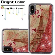 Quicksand Glitter Transparent Case for iPhone XS Max - Eiffel Tower