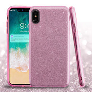 Full Glitter Hybrid Protective Case for iPhone XS Max - Pink