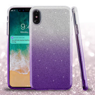 Full Glitter Hybrid Protective Case for iPhone XS Max - Gradient Purple