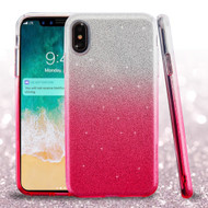 Full Glitter Hybrid Protective Case for iPhone XS Max - Gradient Pink
