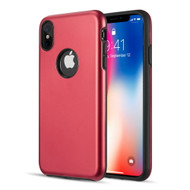 Slim Armor Hybrid Case for iPhone XS Max - Red
