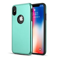 Slim Armor Hybrid Case for iPhone XS Max - Teal Green