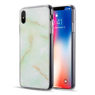 Marble IMD Soft TPU Glitter Case for iPhone XS Max - Green