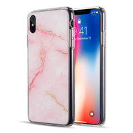 Marble IMD Soft TPU Glitter Case for iPhone XS Max - Pink