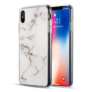 Marble IMD Soft TPU Glitter Case for iPhone XS Max - White
