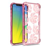 TUFF Klarity Electroplating Transparent Anti-Shock TPU Case for iPhone XS Max - Hibiscus Flowers