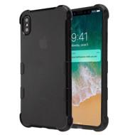 TUFF Klarity Electroplating Transparent Anti-Shock TPU Case for iPhone XS Max - Black