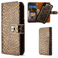 2-IN-1 Premium Leather Wallet with Removable Magnetic Case for iPhone XS Max - Crocodile