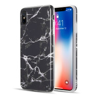 Marble TPU Case for iPhone XS Max - Black