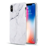 Marble TPU Case for iPhone XS Max - White