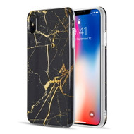 Marble TPU Case for iPhone XS Max - Black Gold