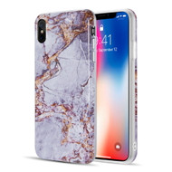 Marble TPU Case for iPhone XS Max - Grey Gold
