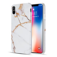 Marble TPU Case for iPhone XS Max - White Gold