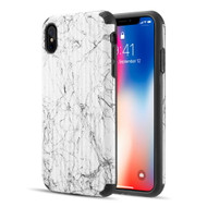 Splash Ink Tactile Surface Hybrid Armor Case for iPhone XS Max - White