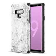 Splash Ink Tactile Surface Hybrid Armor Case for Samsung Galaxy Note 9 - White