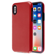 Carbon Fiber Hybrid Case for iPhone XS / X - Red