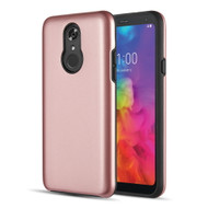 Slim Armor Hybrid Case for LG Q7 Plus - Rose Gold