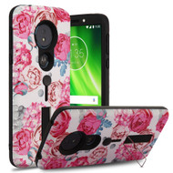 Finger Loop Case with Kickstand for Motorola Moto G6 Play / G6 Forge - Victorian Flower