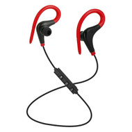 Bluetooth V4.1 Wireless In-Ear Earhook Sport Headphones with Mic - Red