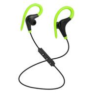 Bluetooth V4.1 Wireless In-Ear Earhook Sport Headphones with Mic - Green