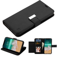 Essential Leather Wallet Stand Case for iPhone XS Max - Black